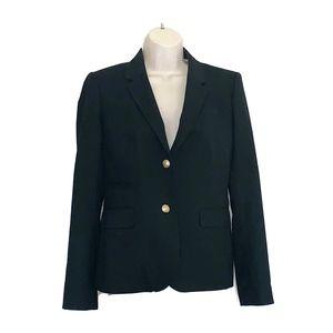 J Crew Schoolboy Women's Sz 4 Black Wool Blazer